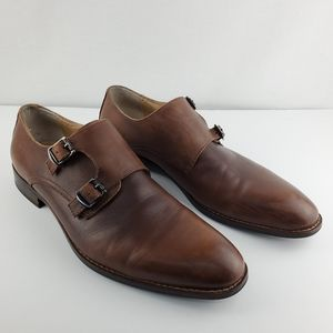 Robert Wayne double monk strap shoes